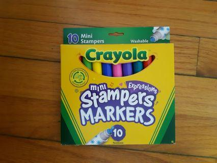 Crayola mini stampers markers