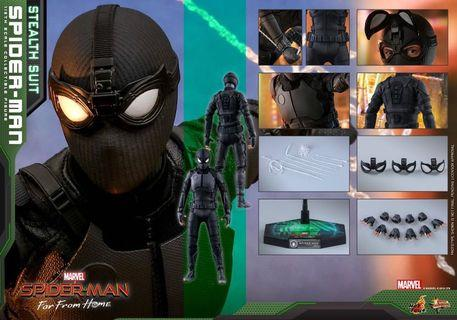 (黑卡VIP✅折扣單) Spider-Man 蜘蛛俠 (潛行服版 Stealth Suit) 普通版 Normal Version Spiderman (Far From Home 離家日) Hot Toys hottoys 蜘蛛人 Peter Parker 1/6th Scale Figure MMS540 (Marvel Heroes Avengers 復仇者聯盟 Avengers ironman iron man)