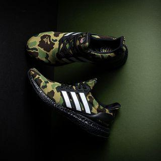 (RETAIL) US9 BAPE Adidas Ultra Boost (GREEN)