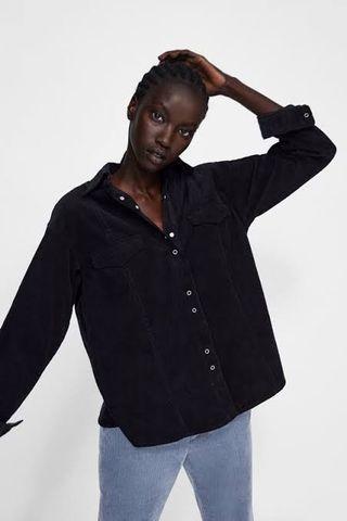 Zara corduroy shirt