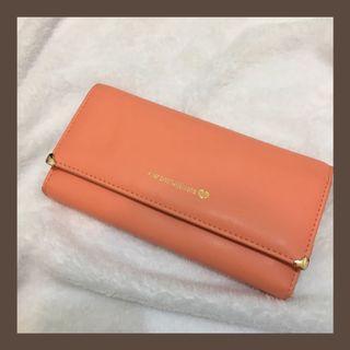 🚚 亮橘色長型皮夾😆