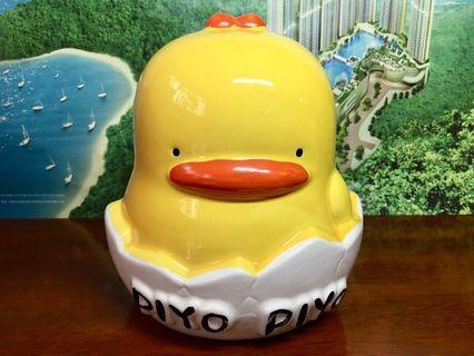絕版珍藏Piyo piyo 黃色小鴨錢甖錢箱一個