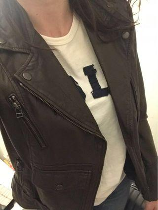Victoria Secret Brown 100% Leather Jacket