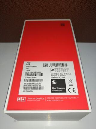 一加 Oneplus 6 128G Special Red BrandNew