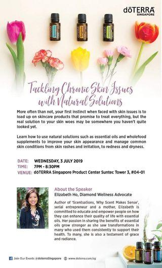Tackling Chronic Skin Issues with Natural Solutions workshop