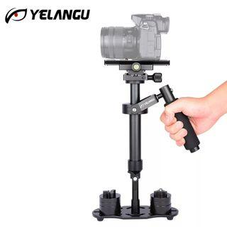 S40 YELANGU Professional Portable Carbon Fiber Mini Handheld Camera Stabilizer DSLR Camcorder Video Steadicam