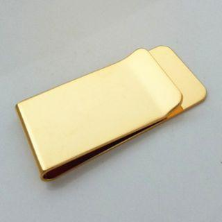 Men's Gold Color Money Clip for Cash Rich Men with loads of Currency money upper class males
