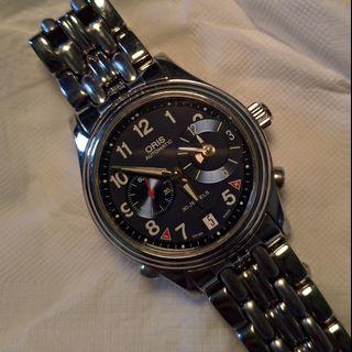 Oris automatic watch 機械錶 世界時區 日夜顯示 小秒針 30jewel world time
