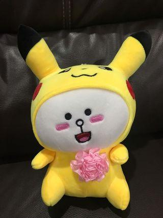 Cony in Pika Character Costume Soft Toy