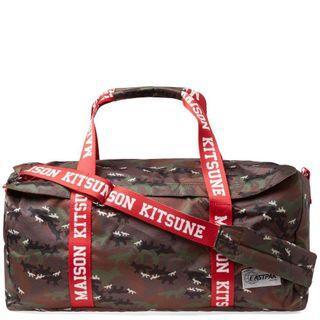 Maison Kitsune x Eastpak limited edition travel bag gym bag camo fox print