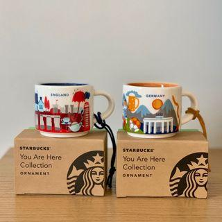 NEW Starbucks You Are Here YAH England and Germany Ornament
