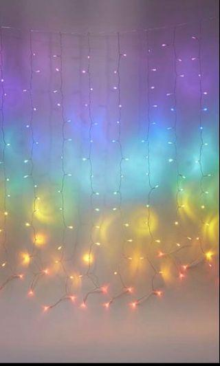 Typo rainbow cascading little light deco