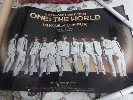 Wanna One ONE:THE WORLD IN KUALA LUMPUR POSTER #Carouselland