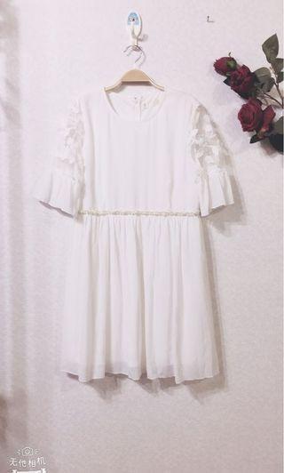 🚚 全新雪紡五分袖連衣裙