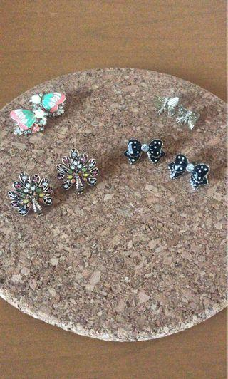 Earring / anting cantik pita ribbon butterfly   4 for 20rb