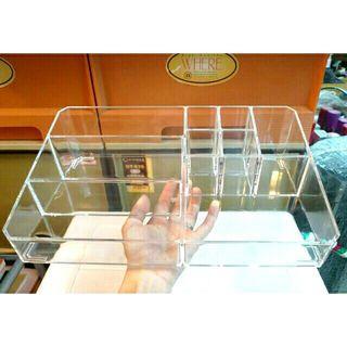 🚚 亞加麗加大號化妝品收納盒  九格透明收納盒