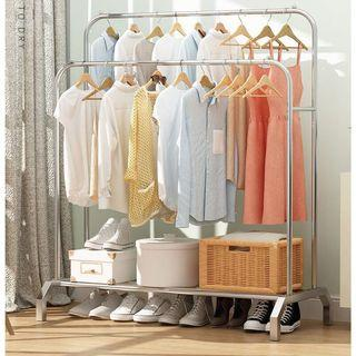 Stainless Steel clothes Rack Simple Wardrobe