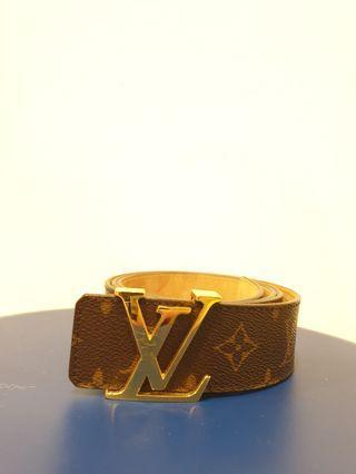 Louis Vuitton Logo Monogram Belt