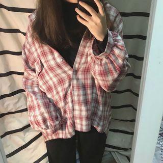紅白格紋襯衫