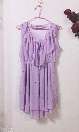 🚚 全新紫色無袖連衣裙