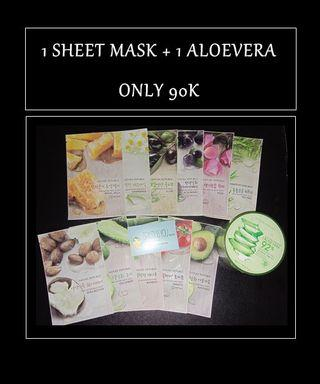 Sheet mask dan aloevera