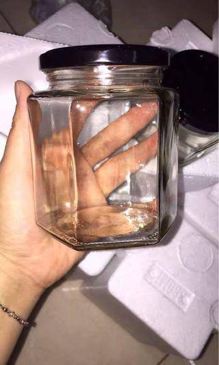 六角形玻璃樽 手工 DIY 陳皮檸檬 蜜糖 全新