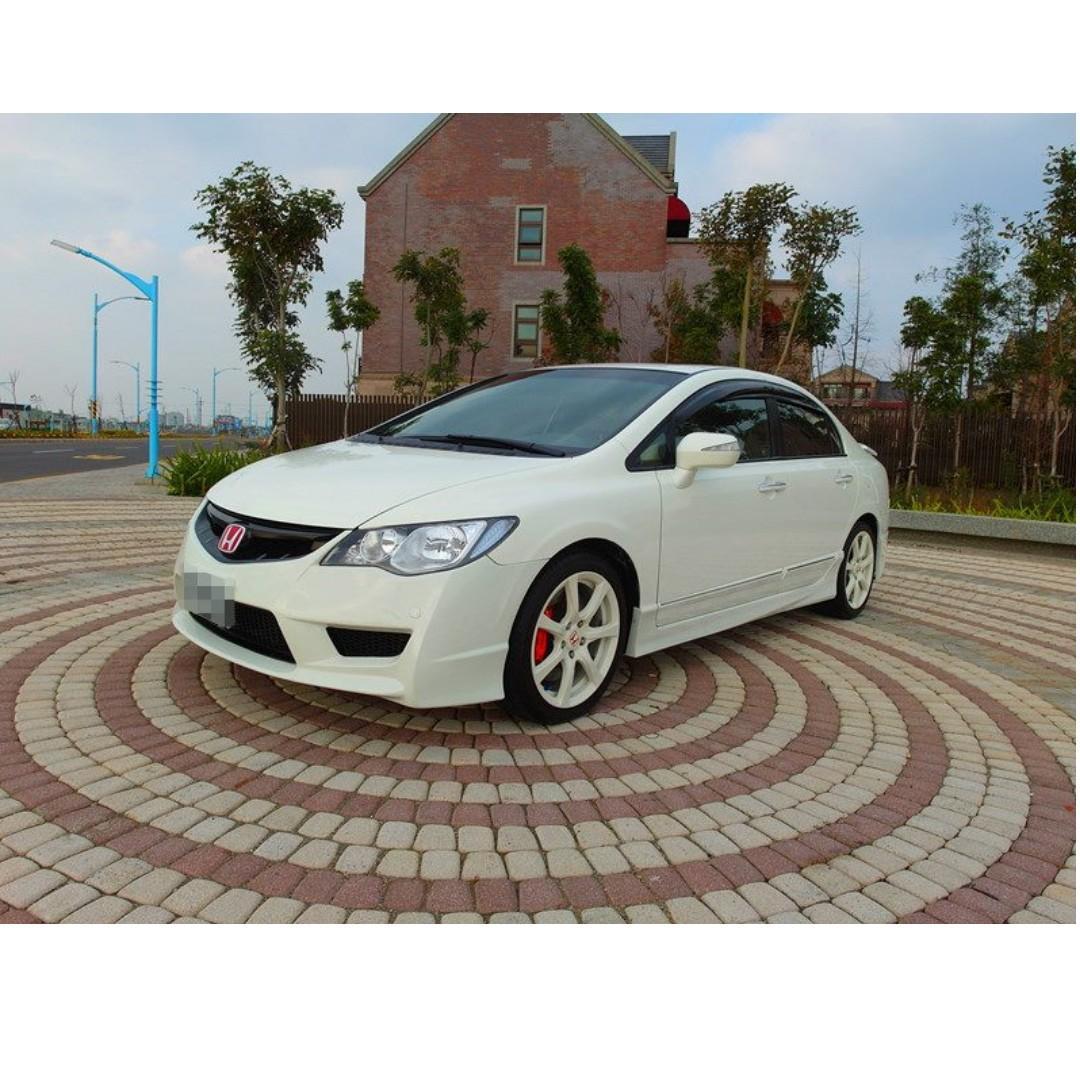 2007 Honda Civic 1.8 白 配合全額貸、找錢超額貸 FB搜尋 : 『阿文の圓夢車坊』