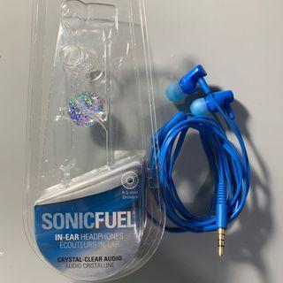 Audio-Technica Sonic Fuel Blue Earphones