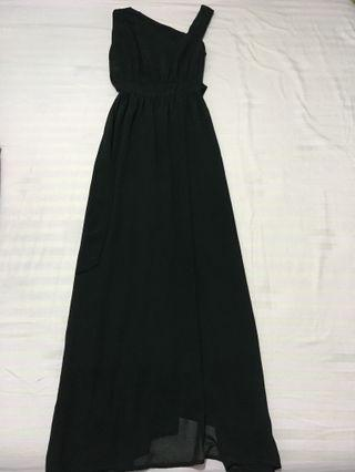 New Light Fashion Long Dress Party in Black