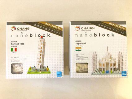 🚚 Changi Airport *Torre di Pisa* and *Taj Mahal* Nanoblocks