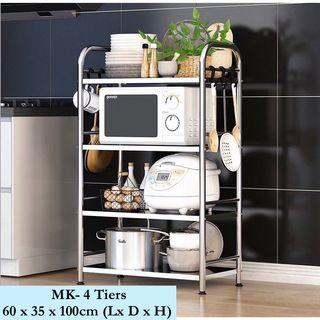 Free Delivery! Stainless Steel Kitchen Microwave Rack