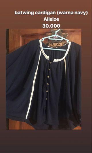 Navy batwing cardigan