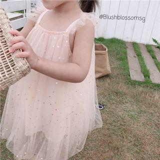 🚚 ⭐INSTOCK⭐ Sweetheart Ruffle Sleeve Tutu Dress