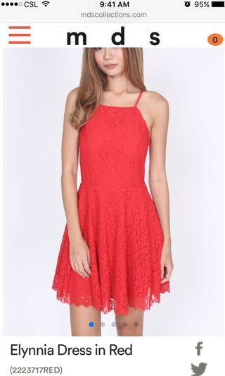 MDS Elynnia Dress in Red