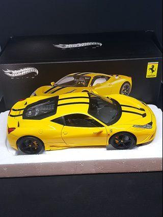 Hotwheels HWE 1 18 Ferrari 458 Speciale
