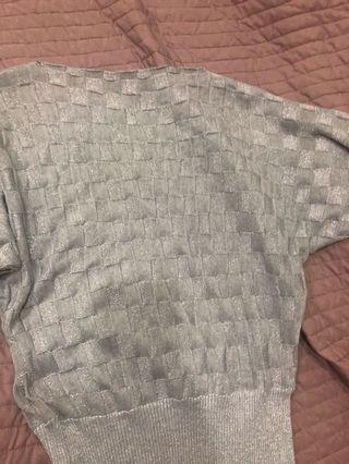 Silver knit top