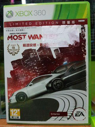 🚚 Xbox 360 need for speed most wanted