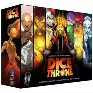 Dice Throne Season 1 (Kickstarter edition) with swirly dice
