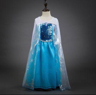Restock - Frozen Elsa Dress for party dinner size 100, 110,120,130 and 140