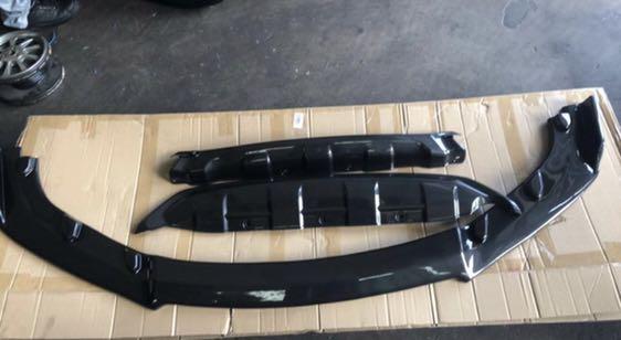 Vezel Carbon Fiber print front lip and bumper protector
