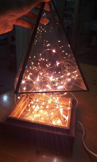 🔥工業風金字塔燈💡99.9%新!
