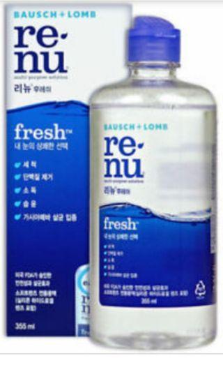 Renu Contact Lens Solution New