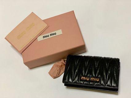 Miu miu card holder/with keychain
