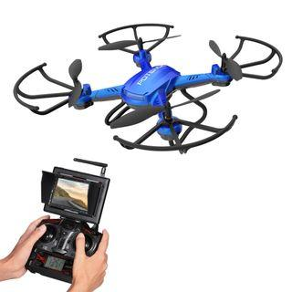 Potensic F181DH Drone with Camera, RC Quadcopter 720P Altitude Hold UFO & Seamless-speed Function with FPV LCD Screen Monitor - Blue