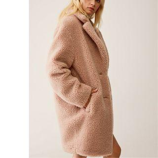 ARITZIA Wilfred Free the teddy cocoon Size Small