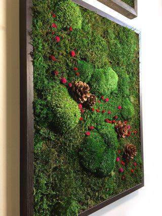 Moss Art Decor ~ Wall 3D Real Preserved Moss Season of Love