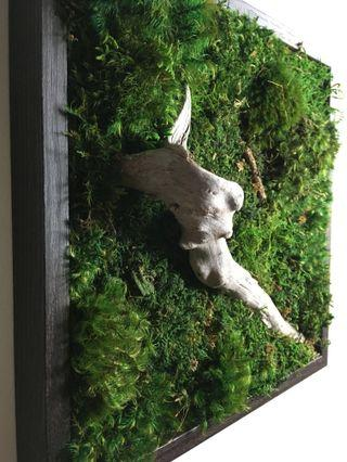 Moss art Wall~ Natural Preserved Eco No Maintenance Green