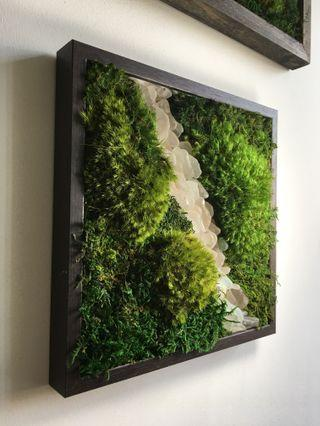Moss Art Wall ~ Decor REAL Preserved Moss sea glass