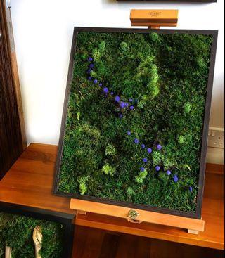 Moss 3D Decor ~ Real Preserved Moss Wall Tributary