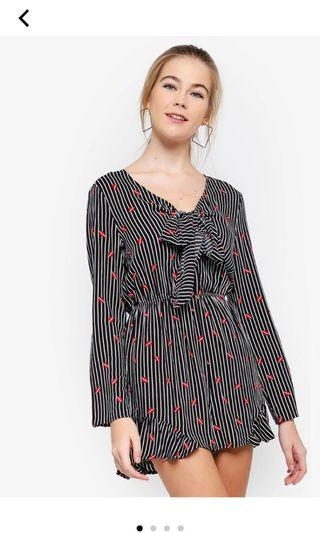 [PL] Something Borrowed Stripes Playsuit